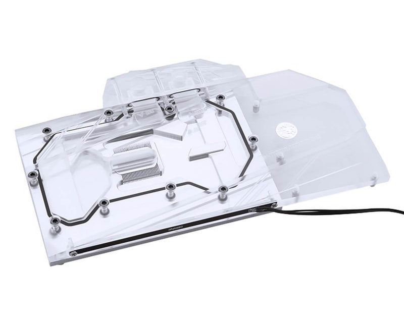 Bykski COLORFUL iGame RTX 2080Ti Vulcan X OC Full Coverage GPU Water Block - Clear (N-IG2080TIVXOC-X)