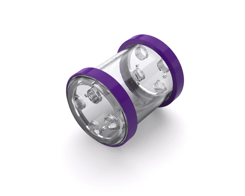 PrimoChill CTR Low Profile Phase II Reservoir - Clear PMMA - 80mm - Purple