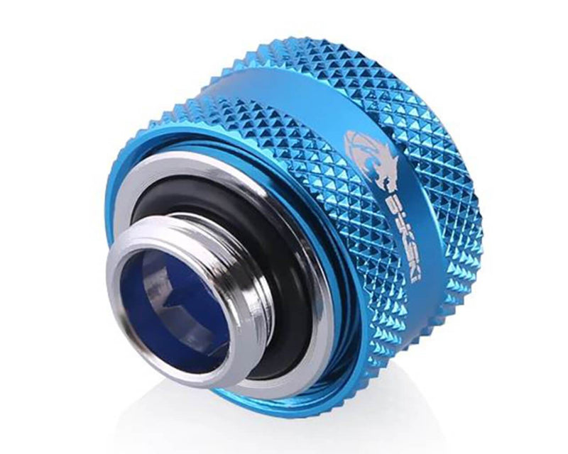 Bykski Anti-Off Rigid 14mm OD Fitting - Blue (B-FTHTJ-L14)