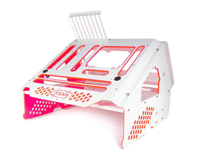 Praxis WetBench - White w/ UV Red/Pink PMMA Accents - White w/UV Red/Pink Accents