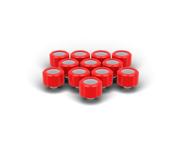 PrimoChill 16mm OD Rigid SX Fitting - 12 Pack - Comp Red