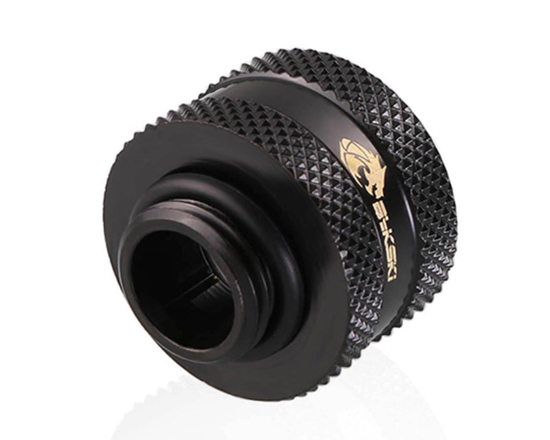 Bykski Rigid 16mm OD Fitting V2 - Black (B-HTJV2-L16)