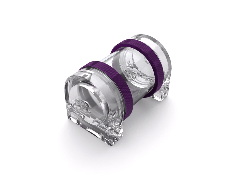 PrimoChill CTR Hard Mount Phase II Reservoir - Clear PMMA - 80mm - Candy Purple