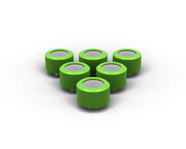 PrimoChill 16mm OD Rigid SX Fitting - 6 Pack - Kawa Green