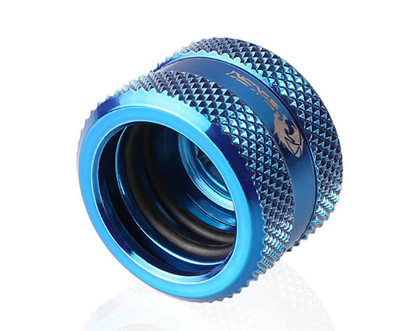 Bykski Rigid 16mm OD Fitting V2 - Blue (B-HTJV2-L16)