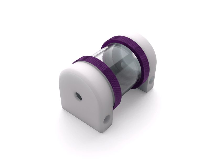 PrimoChill CTR Hard Mount Phase II Reservoir - White POM - 80mm - Candy Purple