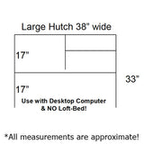 Desk Hutch Large (WVU)