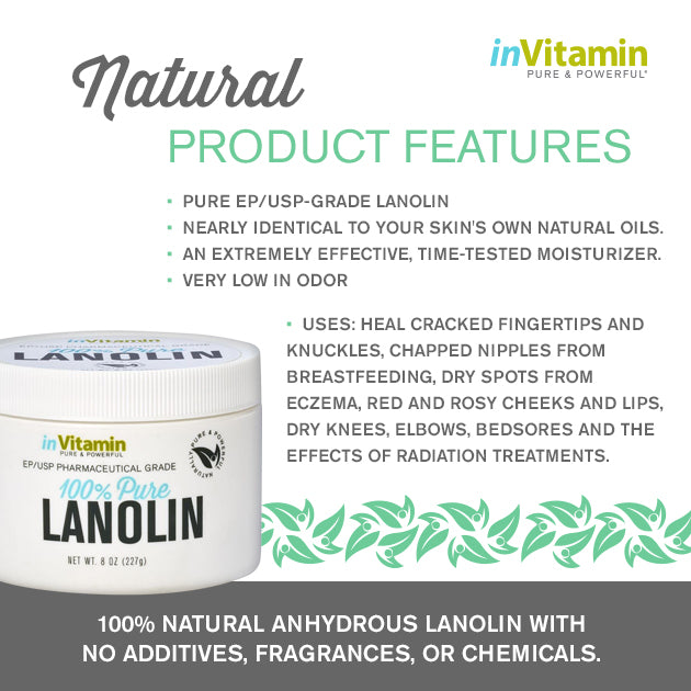 Pure Lanolin Skin Therapy Features