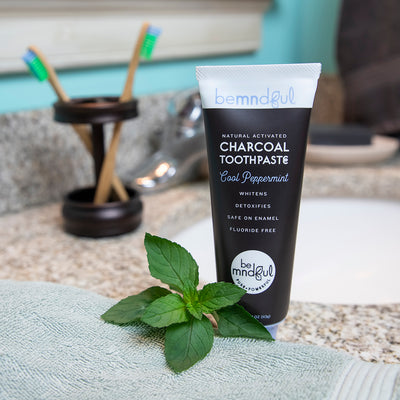Whitening Toothpaste with Activated Charcoal (Peppermint)