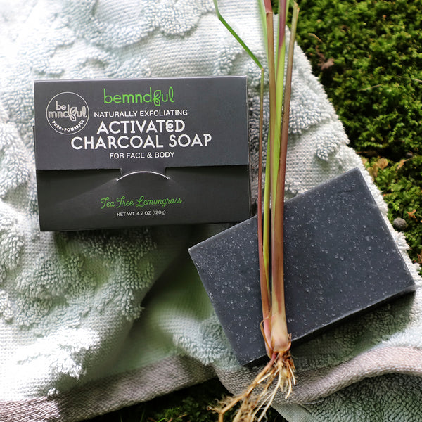 Exfoliating Charcoal Soap Bar (Tea Tree & Lemongrass)
