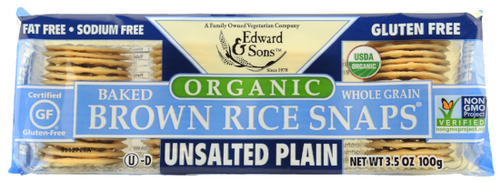 Organic Unsalted Plain Baked Brown Rice Snaps®