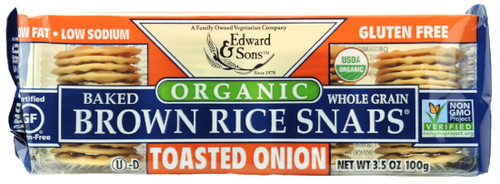 Organic Toasted Onion Baked Brown Rice Snaps®