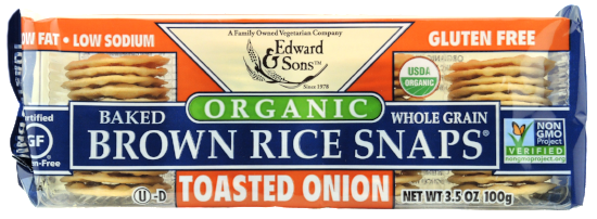Organic Toasted Onion Baked Brown Rice Snaps® <BR> (25% OFF)