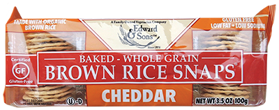 Cheddar Baked Brown Rice Snaps®