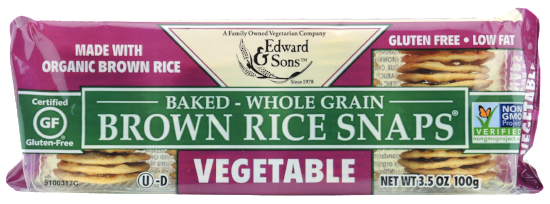 Vegetable Baked Brown Rice Snaps®