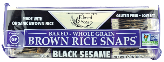 Black Sesame Baked Brown Rice Snaps®