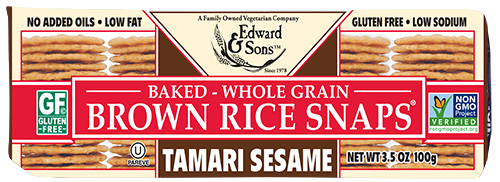 Tamari Sesame Baked Brown Rice Snaps®