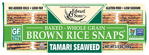Tamari Seaweed Baked Brown Rice Snaps®<br> (BUY ONE, GET ONE FREE)