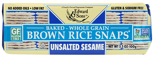Unsalted Sesame Baked Brown Rice Snaps®
