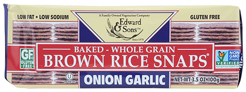Onion Garlic Baked Brown Rice Snaps®