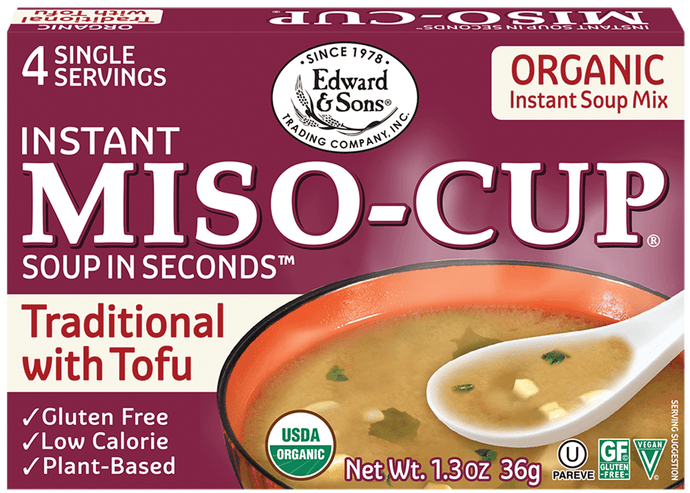 Edward & Sons™ Organic Traditional Miso-Cup® with Tofu (4 Pack)
