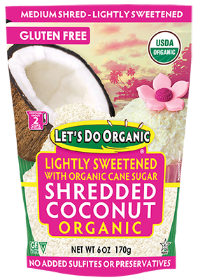 Let's Do Organic® Lightly Sweetened Shredded Coconut