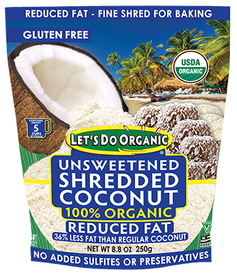 Let's Do Organic® Reduced Fat Shredded Coconut