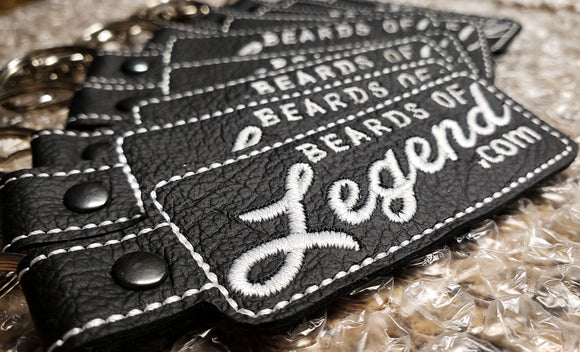 Embroidered Leather Beards of Legend Keychain