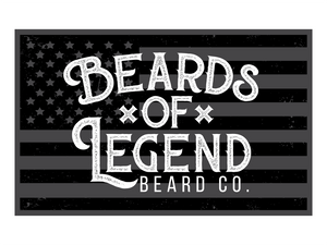 Beards Of Legend Beard Co Flag Decal