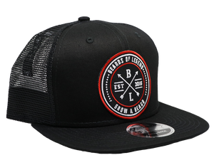 Grow a Beard Black Mesh Snapback