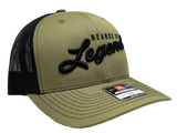 Military Green Beards Of Legend Black Back Mesh Snapback