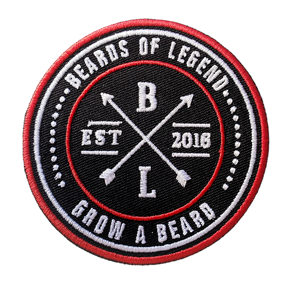 Beards of Legend 3 Inch Iron on Patch