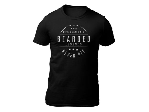 Bearded Legends Never Die Short Sleeve T-shirt