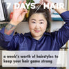 7 Days of Hair - One Wash, 7 Styles