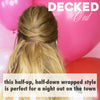 Decked Out - Valentine's Day Styles: Wrapped Half-up Hairstyle