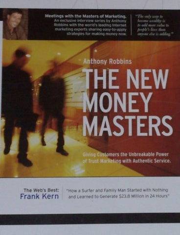 Anthony Robbins - Anthony Robbins - The New Money Masters - with Frank Kern (1 CD, 1 DVD, & Action B