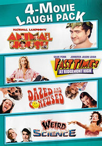 4 Movie Laugh Pack (Animal house / Fast Times at Ridgemont High / Dazed and Confused / Weird Science  DVD - GoodFlix