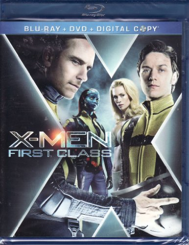 X-Men: First Class (Three-Disc Blu-ray/DVD Combo + Digital Copy)  Blu-ray - GoodFlix
