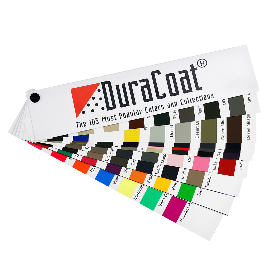Duracoat samples color decks and sample chips duracoat firearm