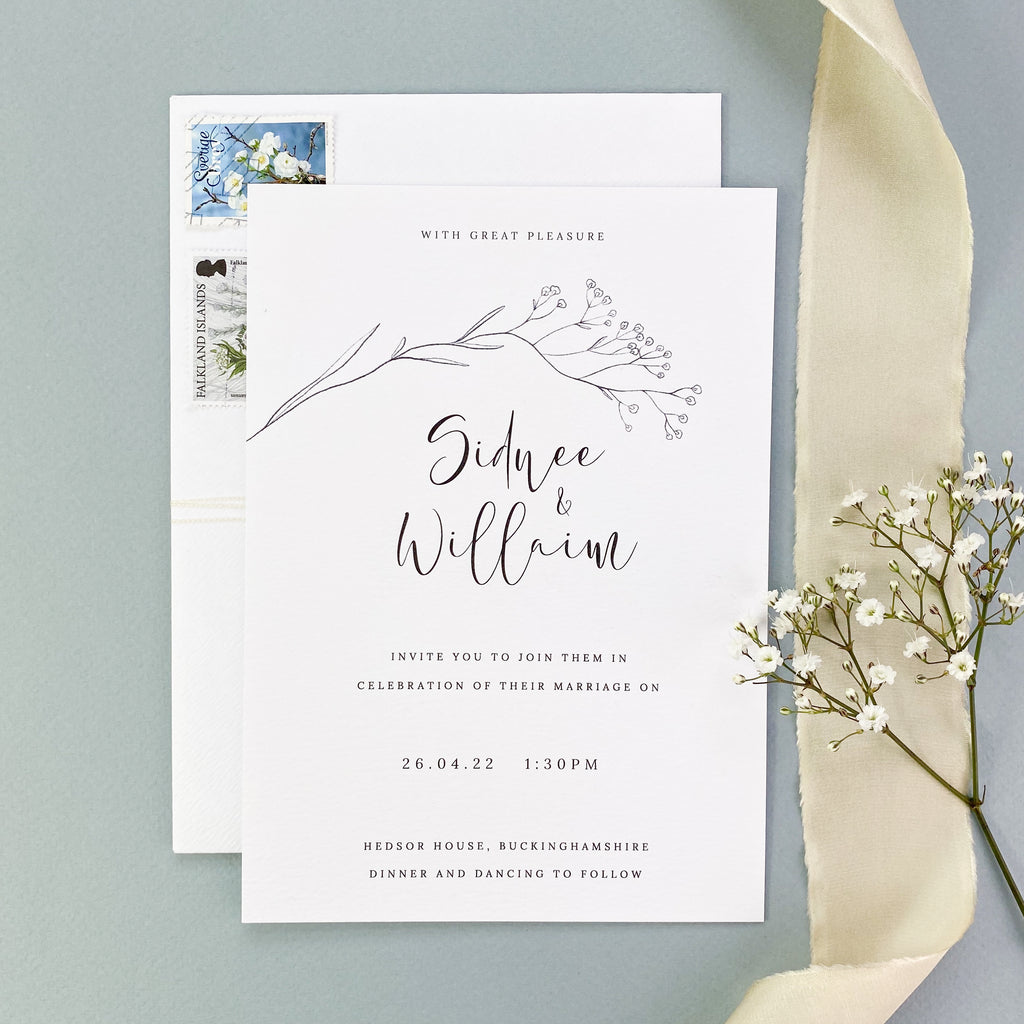 Breath Wedding Invitation
