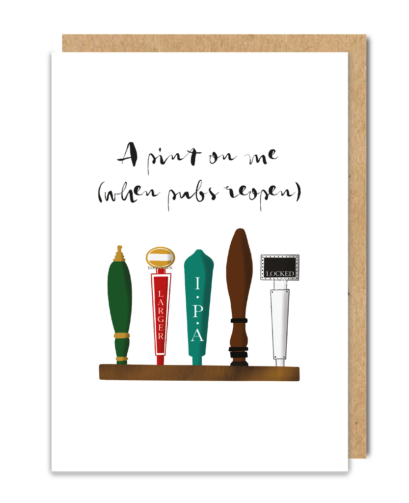 A Pint On Me Greeting Card
