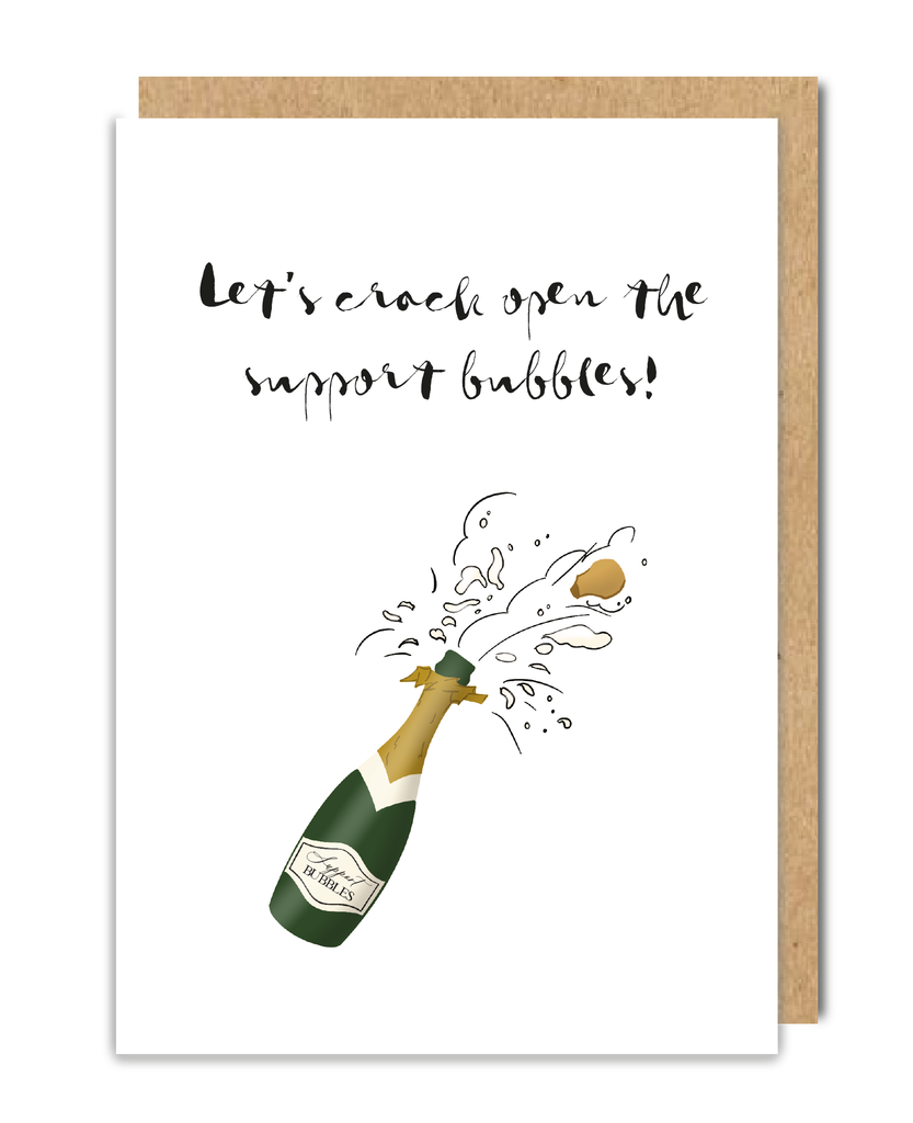 Support Bubbles Greeting Card