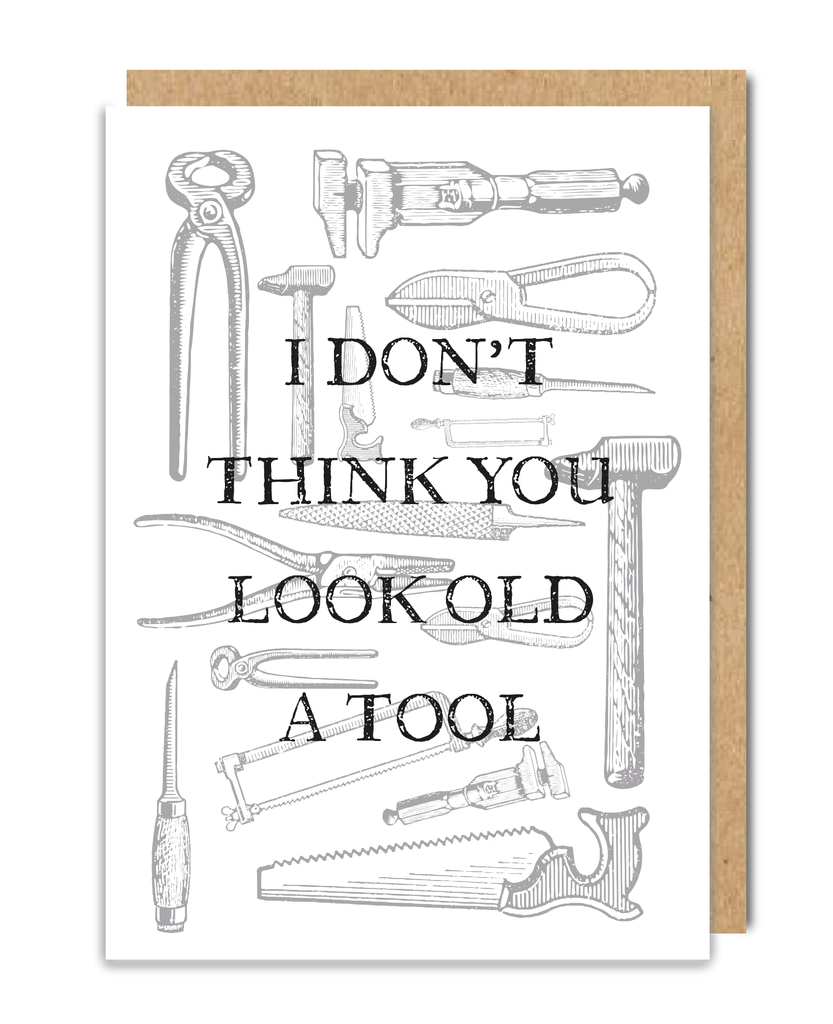 Old A Tool Greeting Card