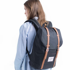 Mochila Retreat - Black/Tan