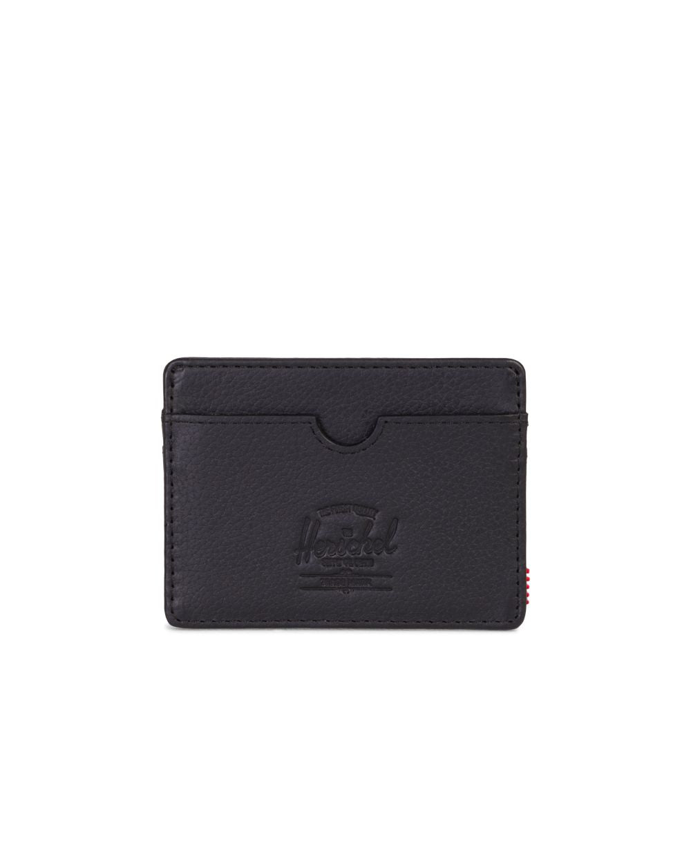 Cartera Charlie - Black Pebbled Leather