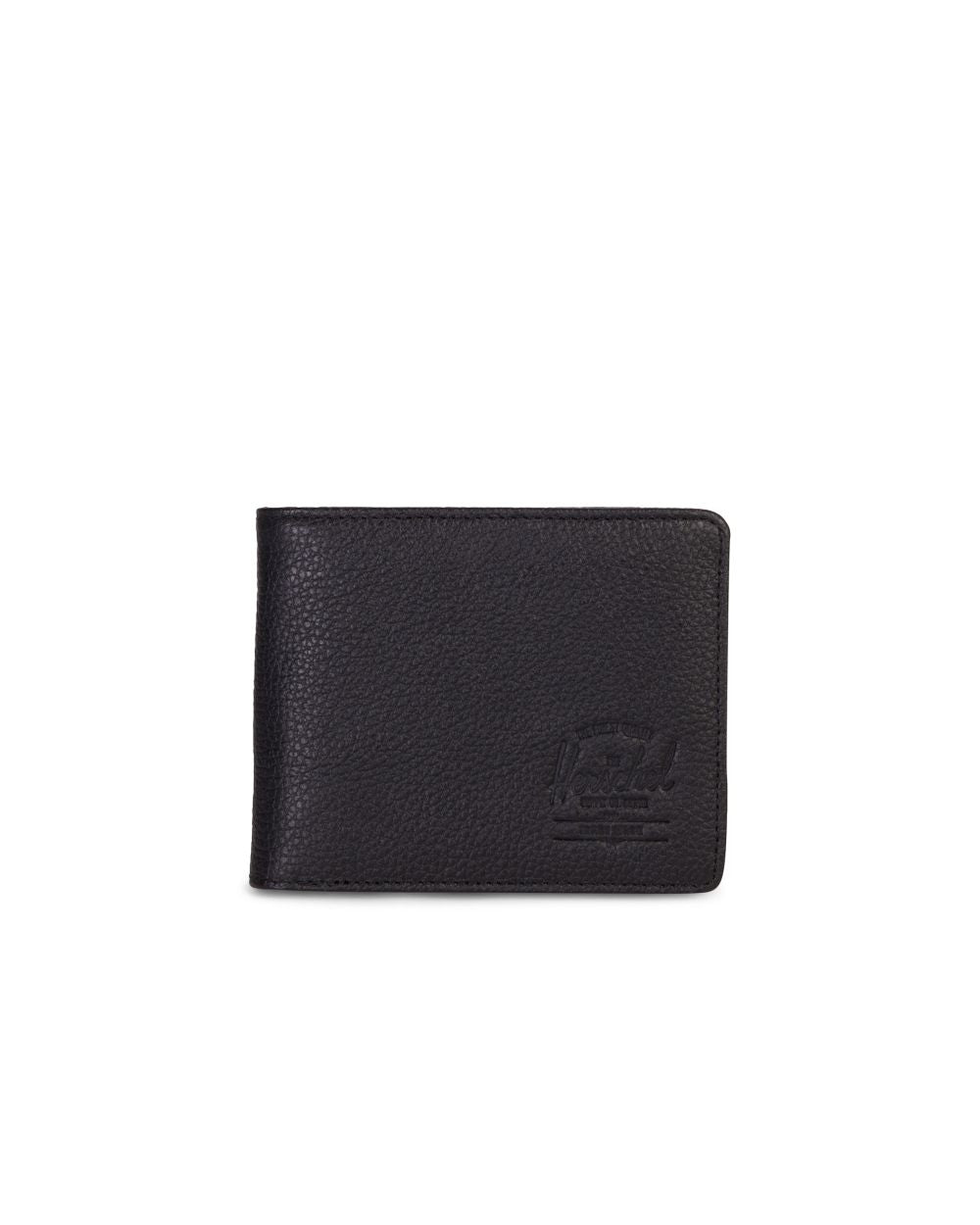 Cartera Hank - Black Pebbled Leather