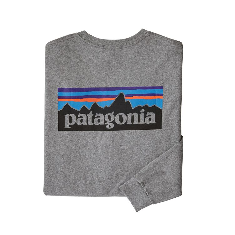 Camiseta P-6 Logo Responsibili L/S - Gravel Heather