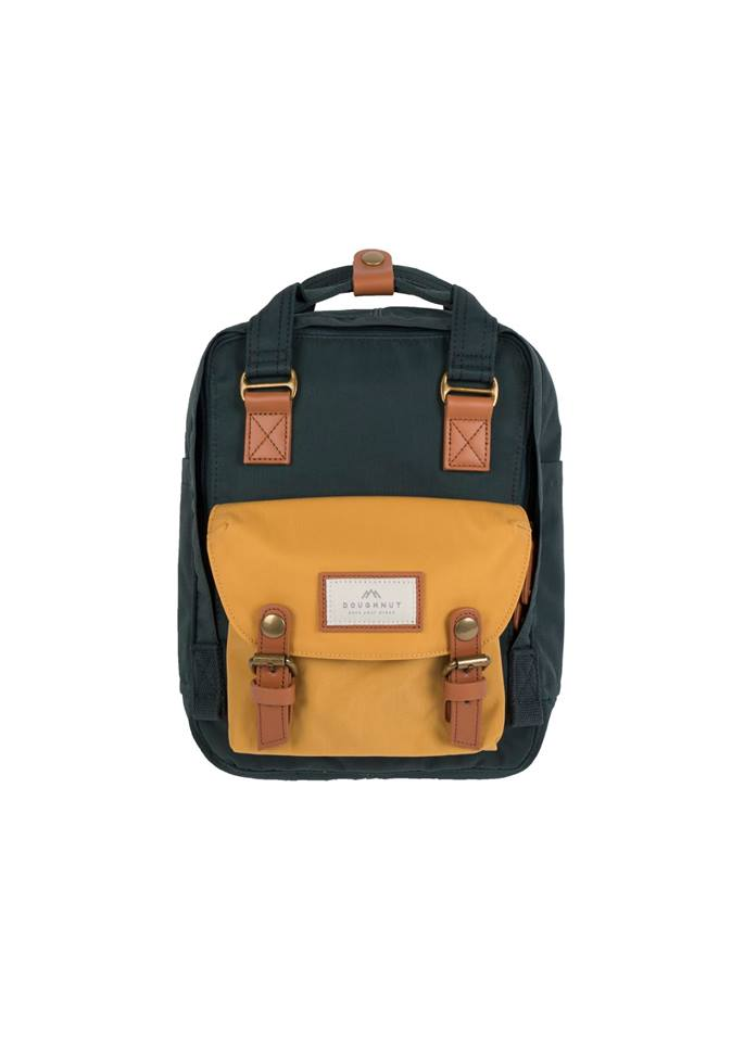 Mochila Macaroon Mini - Slate Green x Yellow