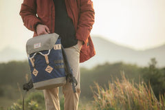 Mochila Colorado Small - Navy x Beige