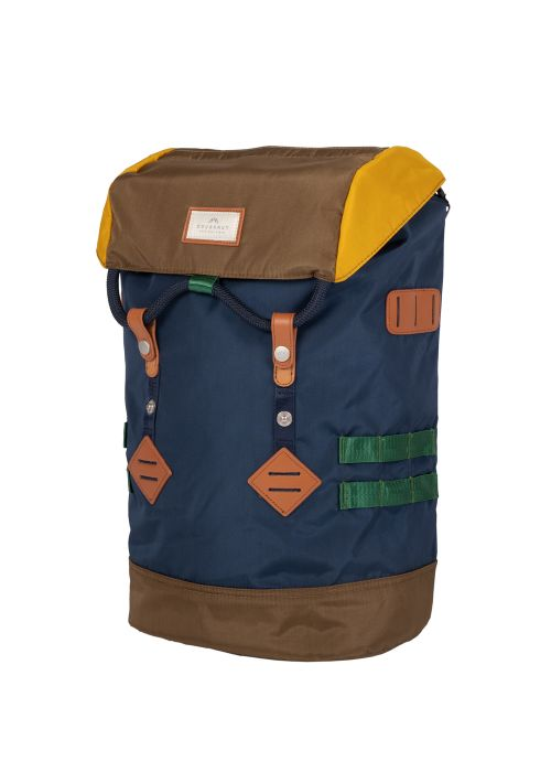 Mochila Colorado Small Glossy Blocking Series - Navy X Khaki